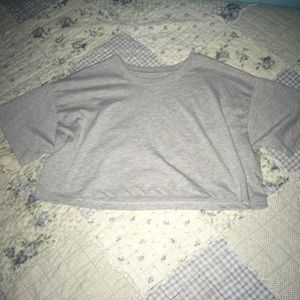 Grey super cropped tee from forever 21